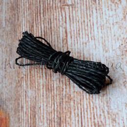 Шнур бумажный черный 2 мм 5 м