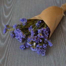 Кермек сухоцвет голубой букет 40 см
