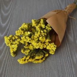 Кермек сухоцвет желтый букет 40 см