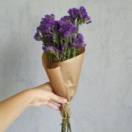 Кермек сухоцвет фиолетовый букет 40 см