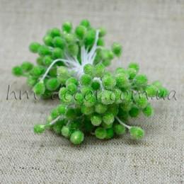 Тычинки на нитке сахарные светло-зеленые 4-5 мм