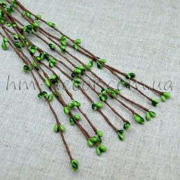 Веточка с зелеными тычинками 40 см