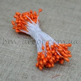 Тычинки на нитке глянцевые оранжевые