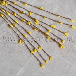 Веточка с желтыми тычинками 40 см