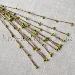 Веточка с оливковыми тычинками 40 см