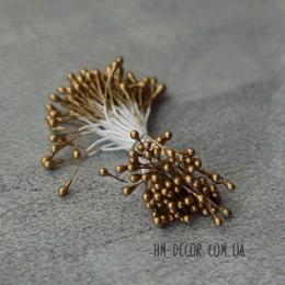 Тычинки на нитке глянцевые золотые