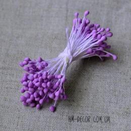 Тычинки матовые светло-фиолетовые 3 мм