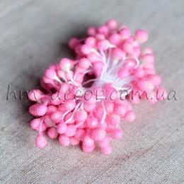 Тычинки на нитке сахарные светло-розовые 4-5 мм