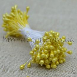 Тычинки на нитке глянцевые желтые