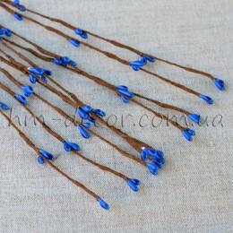 Веточка с синими тычинками 40 см 5 шт.