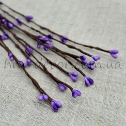 Веточка с фиолетовыми тычинками 40 см