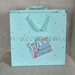 Пакет детский мятный 28*28 см