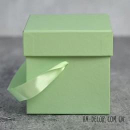 Коробка подарочная квадратная ментол 11*11 см