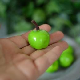 Яблоко искусственное зеленое 2,5 см 1 см