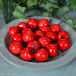 Яблоко искусственное красное 2,5 см 1шт.