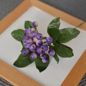 Ягоды на ветке фиолетовые 22 см