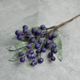 Ягоды на ветке New темно-фиолетовые 22 см
