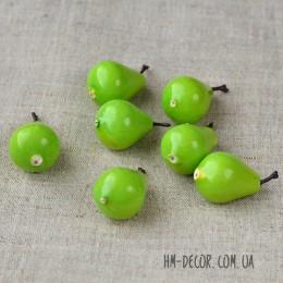 Груша искусственная зеленая 2,5 см