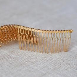 Гребень для волос металлический золото 8/4 см