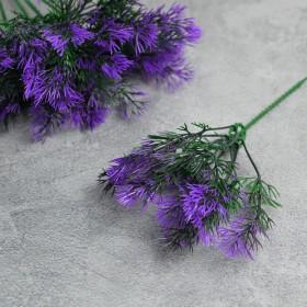 Травка тонкая зелено-фиолетовая на ножке 20 см