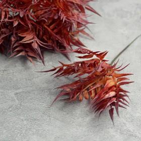 Веточка с бордовыми острыми листьями 20 см