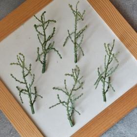Лист тонкий 002 зеленый 7 см 1 шт.
