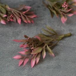 Веточка 006 розовая с ягодами 11 см 1 шт.