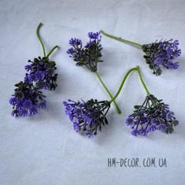 Веточка гипсофилы фиолетовая 10 см