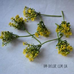 Веточка гипсофилы желтая 10 см