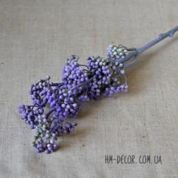 Ветка с фиолетовыми ягодками без листьев 50 см