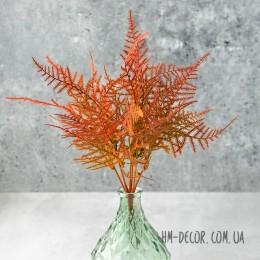 Папоротник мелкий зелено-оранжевый 30 см