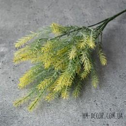 Трава c листьями иголочками желто-зеленая 35 см