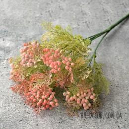 Морошка с розово-коралловыми круглыми ягодами 30 см