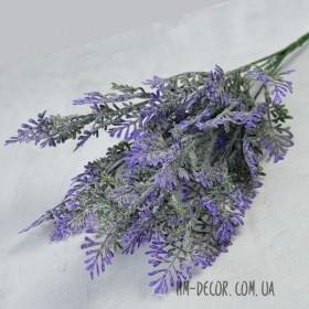 Полынь куст фиолетовый с напылением 5 веток 35 см