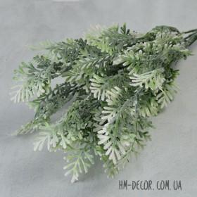 Полынь куст белый с напылением 5 веток 35 см