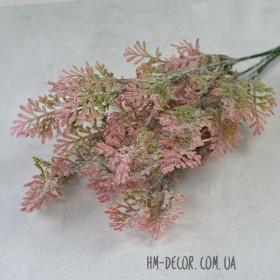 Полынь куст розовый с напылением 5 веток 35 см