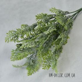 Полынь куст  зеленый с напылением 5 веток 35 см