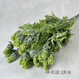 Хмель зеленый с напылением 6 веток 30 см
