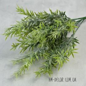 Розмарин зеленый с напылением 6 веток 35 см