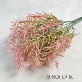 Розмарин розовый с напылением 6 веток 35 см