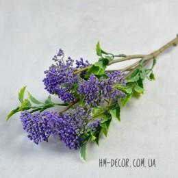 Ветка с фиолетовыми ягодками и листьями 50 см