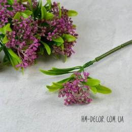 Ветка одинарная с сиреневым соцветием 35 см
