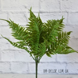 Папоротник премиум зеленый 19 листьев 45 см