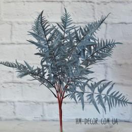 Папоротник премиум дымчато-синий 13 листьев 45 см