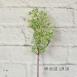 Ветка с зелеными ягодками без листьев 50 см