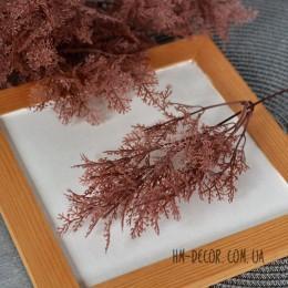 Веточка аспарагуса бордово-коричневая 20 см