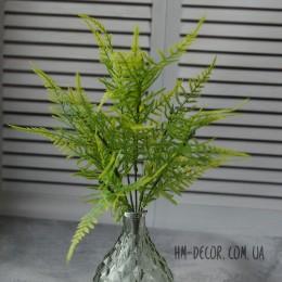 Папоротник мелкий зеленый 7 веток 30 см