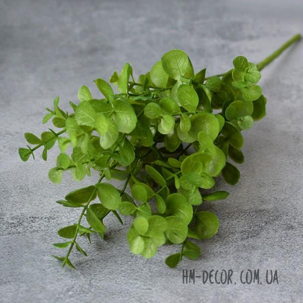 Эвкалипт зеленый пластик 5 веток 30 см