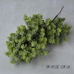 Ветка с мелкими листиками-суккулентами 002 зеленая 30 см