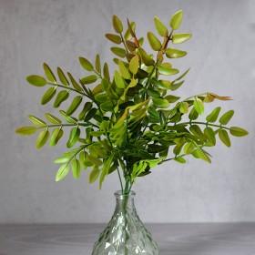 Олива куст зелено-бордовый 5 веток 30 см